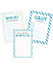 Boy Baby Shower Games Predictions, Advice, and Wishes Card Set