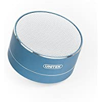 Wireless Bluetooth Speakers, Unitek 3W Stereo Bluetooth V4.0 Speakers, Loud Stereo Sound, Build in Microphone for iPhone 7 Plus, Samsung S7 edge- Blue Coral
