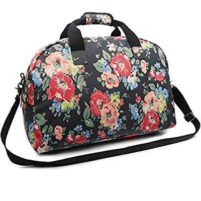 23452f7e5f on sale Oflamn 29L Large Floral Duffle Bag Water Resistant Canvas Travel  Weekender Overnight Gym Bag