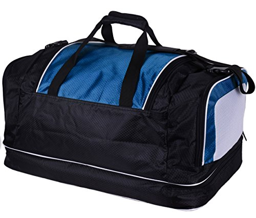 with or at Litres Large Blue 52 90 Compartment Sports Brubaker Base' 'Medium Bottom Base' Litres the Bag Compartment 'Big Wet Shoe XXL UY7wB0