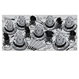 Beistle 86193-50 Silver Times Assortment for 50 People, , Black/Silver/White