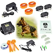 Zubly (TM) 5000 Square Meters Wireless Invisible Electric Dog Fence Fencing System for 3 Dogs Pet Safety Collar Controller
