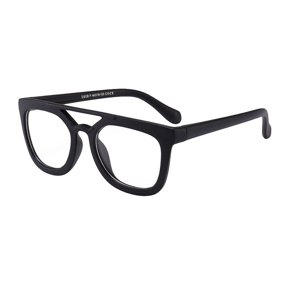 Juleya Bambini Occhiali Telaio - TR - Occhiali per bambini Occhiali da lettura e occhiali da vista retrò per ragazze ragazzi X180710ETYJJ0503-J