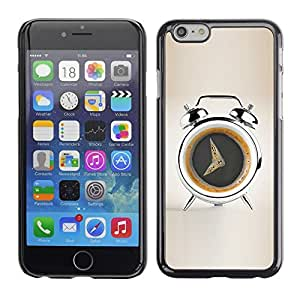 LECELL -- Funda protectora / Cubierta / Piel For Apple iPhone 6 Plus 5.5 -- Coffee Alarm Funny --