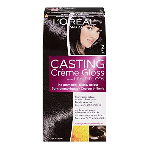LOreal Creme Gloss Color, Black 2, Cafe Noir, 1 Application