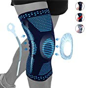 #LightningDeal NEENCA Professional Knee Brace Compression Sleeve,Sports Knee Support with Silicone & Spring Stabilization for Men Women,Medical Grade Knee Protector for Meniscus Tear Arthritis Sports