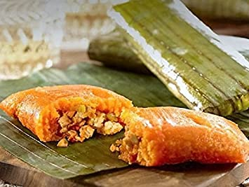 Productos Tere, Puerto Ricos unique PASTELES (Plantain or Cassava Dough Soft Pie stuffed with Chicken or Pork) - 100% NATURAL (Count of 12) (Plantain Dough ...