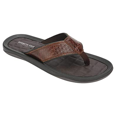 2fac0f2474d6 Amazon.com  Kenneth Cole New York Men s Leather Flip Flop  Shoes