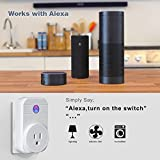 Hantwin WiFi Smart Plug Socket Outlet Wireless Timing Remote Control your Devices for Smart Home, Works with Amazon Alexa Echo Google Home