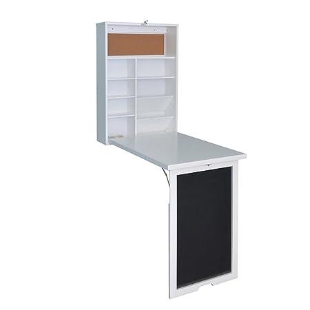 ZCJB Folding Wall Mounted Table Multifunction Computer Desk The Folding Reading  Desk Wall Table Folding