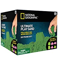 National Geographic Play Sand - 6 LBS of Sand with Castle Molds (Green)