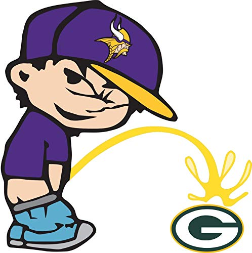 Minnesota Vikings Piss On Green Bay Packers Sticker Decal Truck Vinyl Bumper Patch Laptop Window Car Logo Emblem