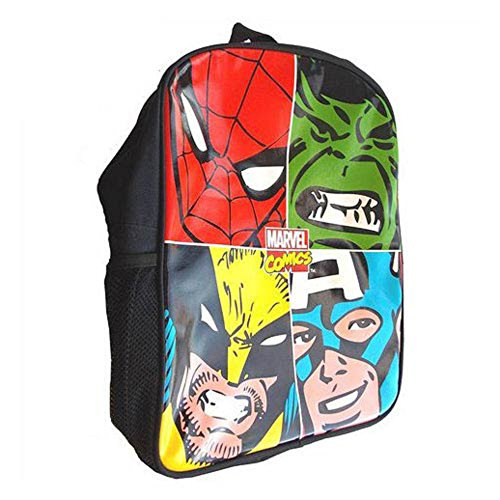 Marvel Comic Heroes Face Off Collection (Spider-Man, Hulk, Wolverine, and Captain America) Backpack