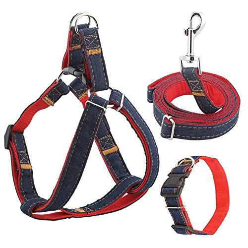 Dog Harness Leash Set CATOOP Adjustable Durable Leash No Pull Dog Collars Leash Set for Small Medium Large Dogs Training Walking Running