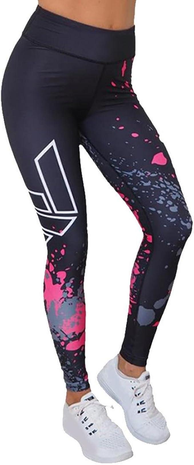 Womens Leggings,Mikey Store Workout Printed Leggings Yoga Power Flex Yoga Pant