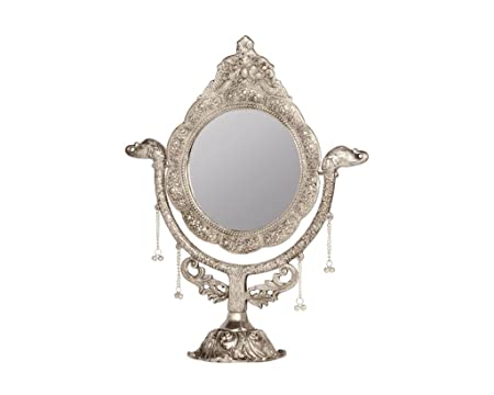 Hand crafts Vintage Home Decor Antique Stand Mirror Casting Elephant ...