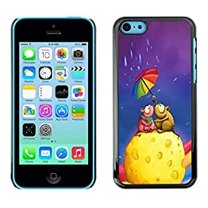PC/Aluminum Funda Carcasa protectora para Apple Iphone 5C Colorful Umbrella Rainbow Cheese Love Art / JUSTGO PHONE PROTECTOR
