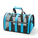 Pet Carrier for Cats Small Dogs Expandable Puppy Carrier Airline Approved Cat Carrier Foldable Soft Sided Travel Crate Bag with Top Loading Door, a Side Pocket and a Bed
