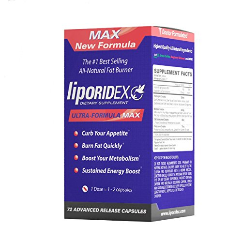 Liporidex MAX2 w / café vert - ** 72 pilules Suppressant- ** supplément de perte de poids thermogénique NOUVELLE FORMULE Ultra Formule Fat Burner métabolisme Booster et l'appétit