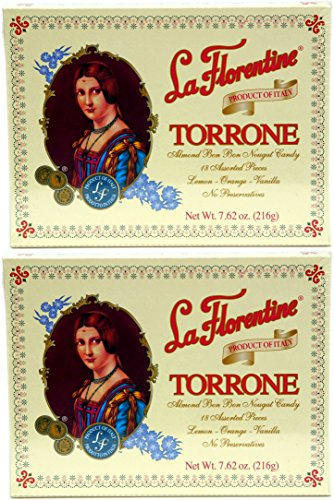 Italian Almond Candy (La Florentine Torrone 18 pc Assortment Box, Pack of 2)
