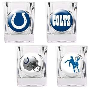 Excelentes productos estadounidenses 41.124 4pc coleccionistas Shot Glass Set-Indianapolis Colts