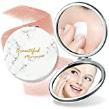 Double Side Compact Magnify Mirror - Cosmetic Mirror with 5x Magnifying side