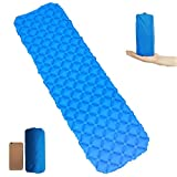 Lmeison 40D Nylon Ultralight Sleeping Pad, Compact Camping Backpacking Air Pad, Lightweight Self-Inflating Foldable Sleeping Mat Portable Hiking Mattress, Air-Support Cells Design Air Cushion Review