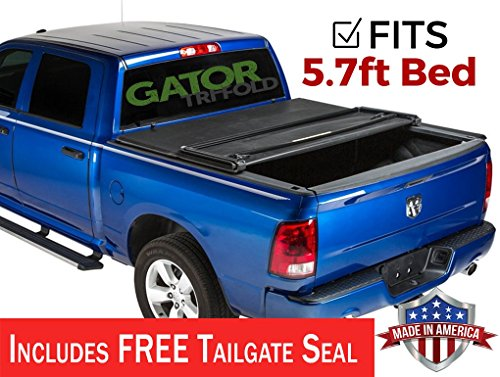 (Gator ETX Soft Tri-Fold Truck Bed Tonneau Cover | 59201 | fits Dodge Ram 2009-18, 2019 Classic 1500 (5 ft 7 in bed) - does not fit RamBox)