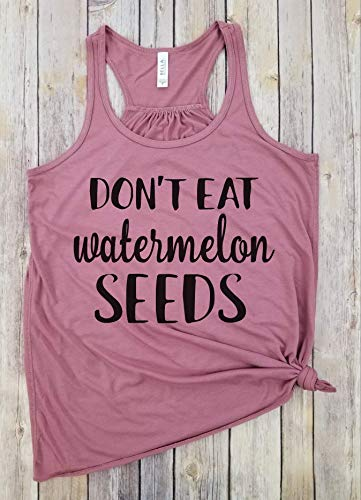 (Don't eat watermelon seeds, Racerback Tank, Pregnancy Shirt, Don't eat watermelon seeds maternity,Pregnancy Announcement, Funny Pregnancy Shirt, Pregnancy Gift)