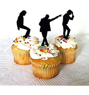 Amazoncom Set of 12 Zombie Cupcake Toppers Halloween Cupcake