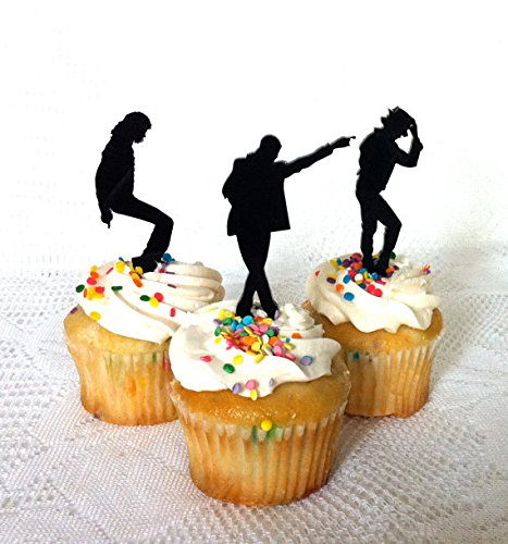 Michael Jackson Party Supplies (Set of 12 Michael Jackson Cupcake Toppers Set of 12, Michael Jackson Fans. Michael Jackson Birthday Party, MJ, Michael Jackson Cake Topper for Cupcakes)