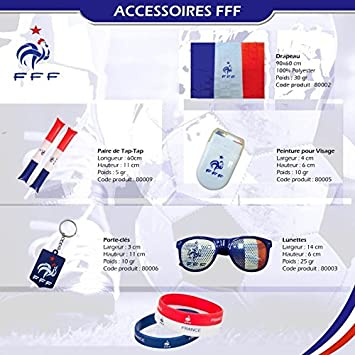 KONTARBOOR     KIT Officiel Supporter Equipe de France de Football Coupe du  Monde FIFA d026049f7dcf