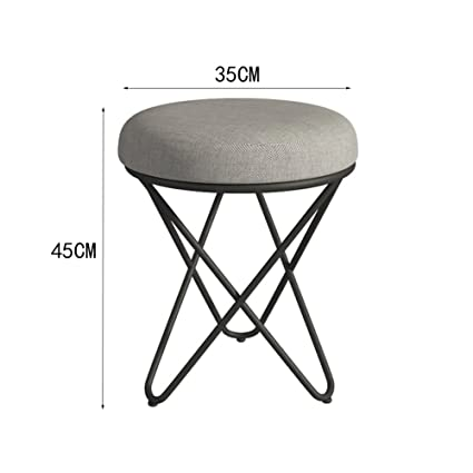Enjoyable Amazon Com Aodisha Makeup Stool Stool Metal Cloth Art Forskolin Free Trial Chair Design Images Forskolin Free Trialorg