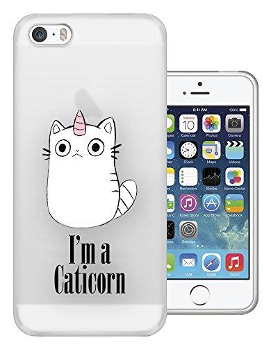 c1032 - Cool Cute Caticorn Pet Unicorn kitten Cat Whimsical Design iphone 5 5S Fashion Trend Silikon Hülle Schutzhülle Schutzcase Gel Rubber Silicone Hülle