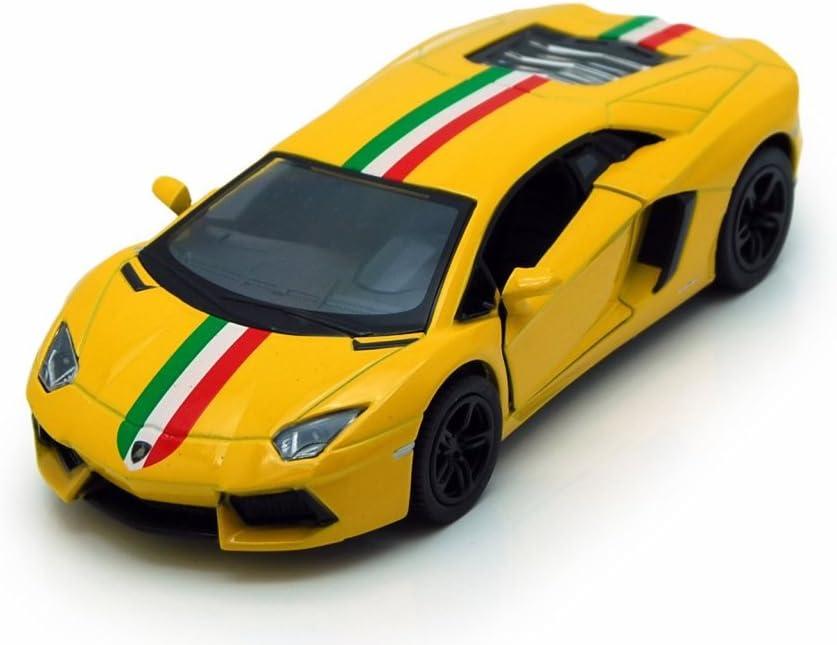 "New 5/"" Kinsmart Lamborghini Aventador LP700-4 Diecast Model Toy Car 1:38 Yellow"