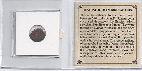 - Ancient Roman Bronze Coin. 1700 Years Old. British Museum. Grassmoor Hoard.