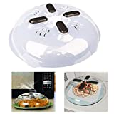 #7: Hover Cover, Magnetic Microwave Splatter Cover Plate Guard Lid With Steam Vent Dishwasher Safe Microwave Potato Cooker