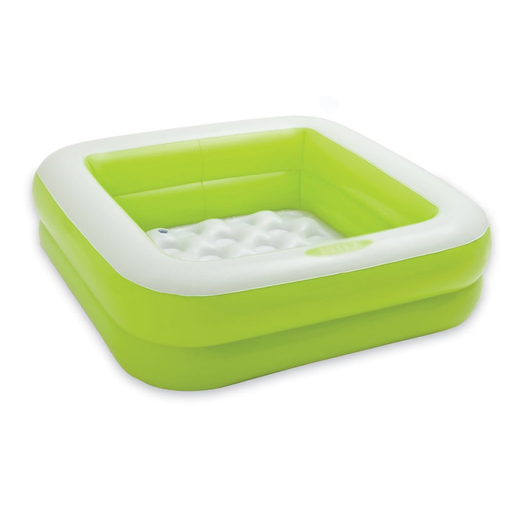 Inflatable bathtub folding tub baby tub home environmental pvc material thickening warm non-toxic no smell non-slip design green pink (Color : Green)