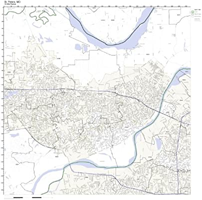 Amazon.com: St. Peters, MO ZIP Code Map Laminated: Home & Kitchen