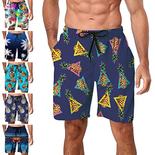 Freshhoodies Men's Swim Trunks Big and Tall Casual Holiday Graphic Board Shorts Beachwear Water Shorts Polyester (Style ZP4, XXX-Large)