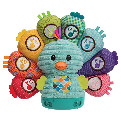 Infantino 4 Modes Learning Peacock - Sensory Development Toy