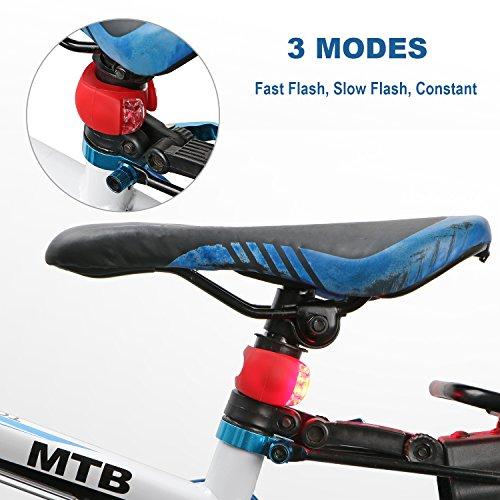 Koopower Juego de Luces de Bicicleta LED, 2 Unidades, Color Blanco y Rojo: Amazon.es: Deportes y aire libre