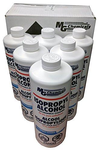 - MG Chemicals 99.9% Isopropyl Alcohol Liquid Cleaner, Bulk Pack (6 x 1 quart bottles)