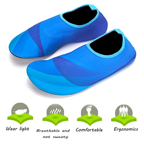 Yoga Beach Shoes Barefoot Swim Aqua Unisex Pool Water Adult Men Blue Socks Women Skin 1AqyXcqwf0