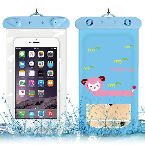 Waterproof Case Thicken,Vandot Universal Cartoon Pattern Waterproof Bag Cellphone Dry Bag Water-resistant Dust Dirt Proof Transparent Windows Pouch For smartphone (105190MM/4.137.48INCH)-Antelope