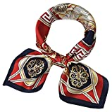 corciova Women 100% Mulberry Silk Neck Scarf Small Square Scarves Neckerchiefs Lust Lion Design