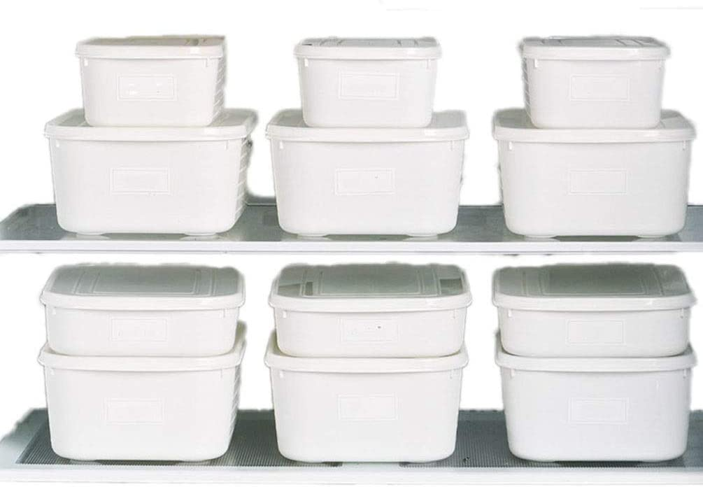 JOSSOIOJ Food Storage Containers Airtight Food Storage Containers 8Pcs Set Plastic BPA Free Kitchen Pantry Bulk Food Storage Canisters (Color : White, Size : 8pcs)