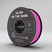 PLA Glow in the Dark, Pink Rose 3D Printing Filament, 3 mm from Black Magic 3D