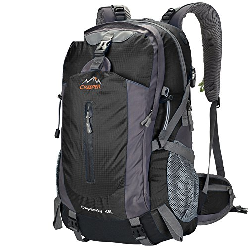 Outdoor-Rucksack/Bergsteigen Tasche/Reisen/Wanderrucksack-schwarz 45L