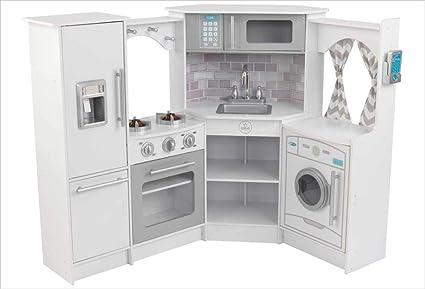 KidKraft Ultimate Corner Play Kitchen Set, White, exclusive (Amazon  Exclusive)
